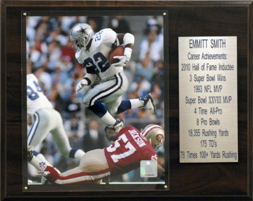 NFL Emmitt Smith Dallas Cowboys Career Stat Plaque