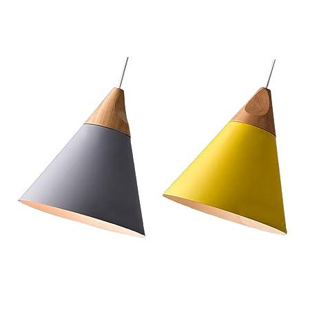 Homyl - 2 lámparas de techo modernas de aluminio para ...