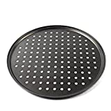 Cedmon Nonstick Carbon Steel Pizza Tray Pizza Pan with Holes, 12 Inch