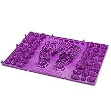 Foot Massager Fingerboard Massage Pad Foot Type Area Heel Magnet Stone Massage Durable Walking Mat Funny Blood Circulation Root Newborned Foot Artifact, One Piece, 40*29Cm,Purple