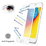 BENKS iPhone 7 Plus 8 Plus Matte Screen Protector Tempered Glass, Anti-Glare Anti-Fingerprint Protective Film with 3D Full Coverage Soft Curve Unbreakable Edge (White for iPhone 8 Plus 7 Plus 5.5″)
