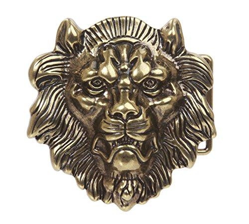 - Lion Belt Buckle, Brass