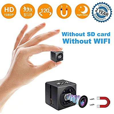 Mini Hidden Spy Camera - Full HD 1080P Portable Mini Security Camera Nanny Cam - Small Magnetic Camera - Surveillance Camera Night Vision/Motion Detection Home Car Office,Indoor/Outdoor from BLAIKEPCAM