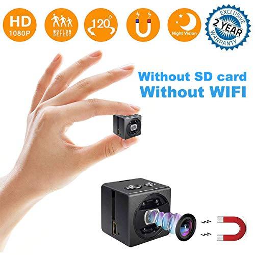 (Mini Hidden Spy Camera - Full HD 1080P Portable Mini Security Camera Nanny Cam - Small Magnetic Camera - Surveillance Camera Night Vision/Motion Detection Home Car Office,Indoor/Outdoor)
