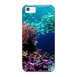 Tpu Fashionable Design Fish World Rugged Case Cover For Iphone 5c New