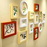 Photo Wall, Solid Wood Frame Living Room Bedroom Round Photo Wall, European Child Photo Frame Wall ( Color : 3# )