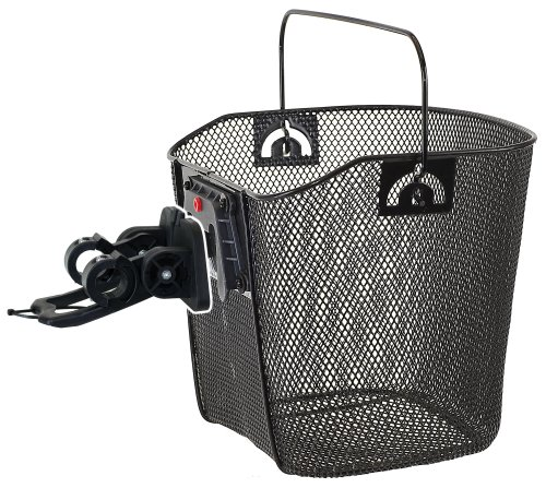 Basket Bracket Wire (M-Wave Wire Bicycle Basket With Clip-on Bracket)
