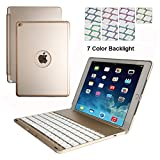 iPad Air 2 Keyboard Case,DINGRICH 7 Colors LED - Best Reviews Guide