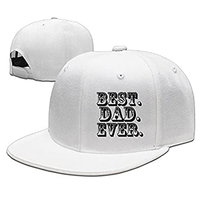 Unisex Best Dad Ever Adjustable Cotton Cap