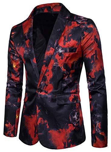 Blazer Business Slim Festive Christmas Unita Fit 56 Giacca Tinta Tuxedo Leisure 48 Moda Da Alla Rot Vintage Uomo RFwxqI4SA