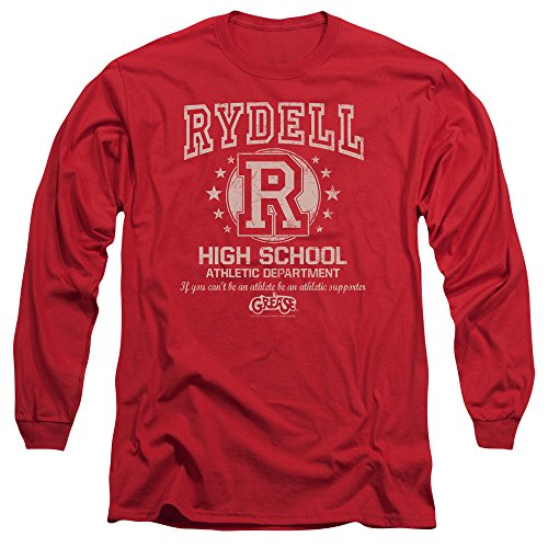Grease Movie Rydell High Adult Long Sleeve T-Shirt Tee - Adult Licensed Grease