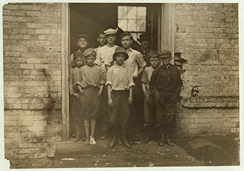 Noon. Group of doffers and sweepers in Cabarrus Mill, Concord, N.C. These are not all that were working here. Location: Concord, North - North Concord Carolina Mills