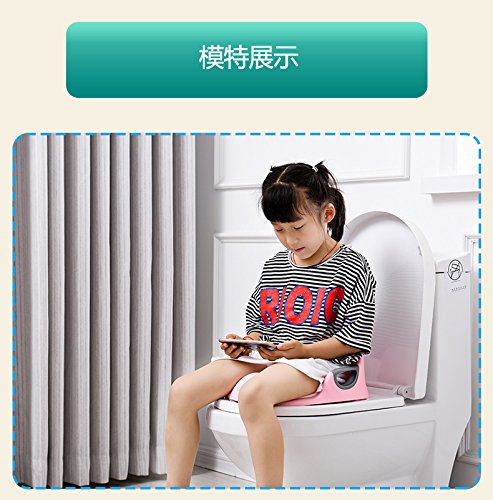 Potty Training Seat For Kids Boys Girls Toddlers Toilet Seat For Baby With Cushion Handle And Backrest Toilet Trainer For Round And Oval Toilets (Pink)