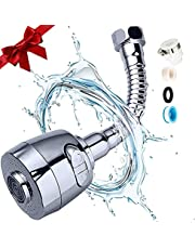 Kitchen Faucet Aerator Sink Tap Sprayer Head -360 Degree Rotatable ABS Anti-Splash Faucet Sprayer Head Replacement - Flexible Faucet Sprayer Sink Nozzle Attachment with 2 Modes for Bathroom