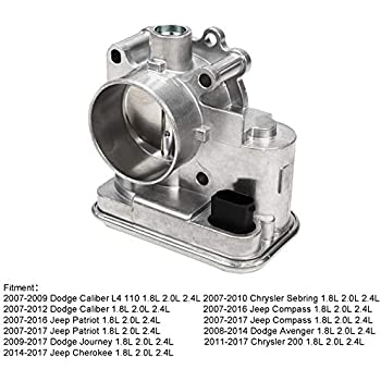 Superfastracing Complete Throttle Body With IAC Idle Air Control TPS Actuator Assembly For Chrysler 200/Sebring Dodge Journey/Avenger Jeep Cherokee/Patriot ...
