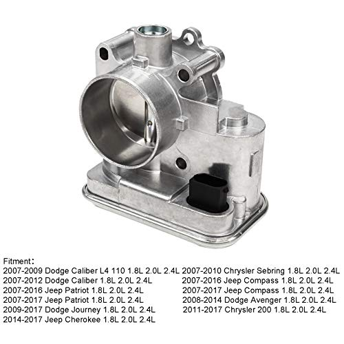 Superfastracing Complete Throttle Body With IAC Idle Air Control TPS Actuator Assembly For Chrysler 200/Sebring Dodge Journey/Avenger Jeep Cherokee/Patriot Replace 04891735AC 4891735AB 4891735 ()