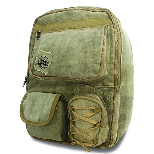Real Deal Brazil The 's Belem Tan Recyled Cotton Canvas Backpack (Carry Plenty On)