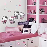 RoomMates RMK1201SCS Hello Kitty Dress Up Peel & Stick Wall Decals