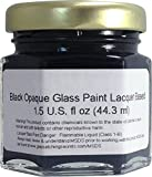 (Black Opaque) Glass Paint Lacquer Stain, Permanent 1.5-Ounce Professional Stained Glass Like Paint