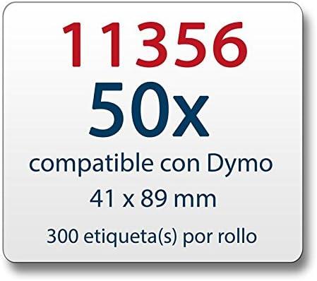 50x Label kompat zu Dymo 11354  57 x 32 mm 1000 Label Etiketten pro Rolle