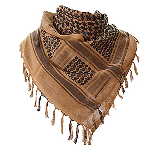 (Military Shemagh Tactical Desert 100% Cotton Keffiyeh Scarf Wrap)