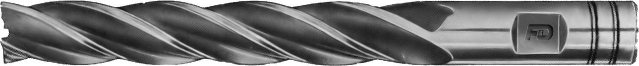 F&D Tool Company 18383-F912 Multiple Flute End Mill, Single End, Extra Long, High Speed Steel, 3/8'' Mill Diameter, 3/8'' Shank Diameter, 2.5'' Flute Length, 4.25'' Overall Length, 4 Number of Flutes