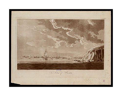 1779 Map A view of Boston Aquatint with etching.Shows ships in Boston Harbor, with distant view of city.From author's Atlantic Neptune.Boston Harbor|Ready to Frame|Historic Antique Vintage - Outlets Map Atlantic City