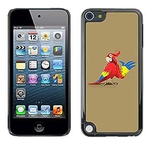 Carcasa Funda Prima Delgada SLIM Casa Case Bandera Cover Shell para Apple iPod Touch 5 / Business Style Friendly Parrot