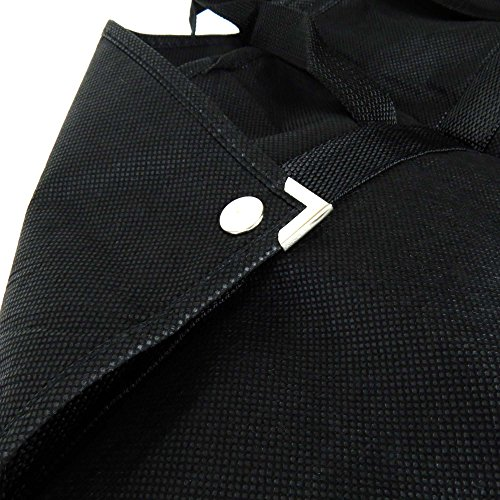 Hangerworld 40 Inch Black Breathable Foldover Suit Cover Carrier Bag with Handles & Stud Fastening