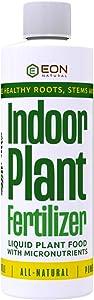 EON NATURAL Indoor Plant Food – 8 oz Organic Indoor Plant Fertilizer – Premium All-Purpose Liquid Plant Food with Nitrogen, Phosphorus, and Potassium – Natural Fertilizer for Indoor houseplants