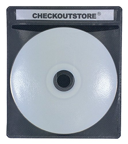 CheckOutStore (400) Premium CD Double-Sided Storage Plastic Sleeve (Black)