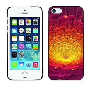 LECELL--Funda protectora / Cubierta / Piel For iPhone 5 / 5S -- Colorida flor del pétalo --
