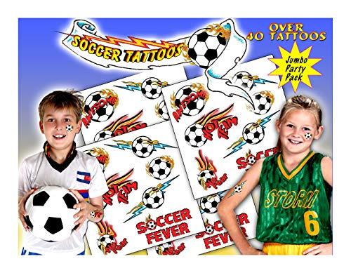 Kid's Tattoos - Soccer Temporary Tattoos]()