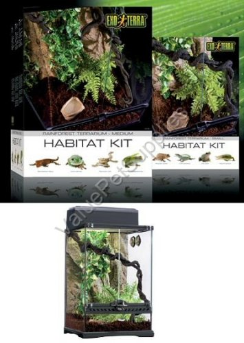 Exo Terra Rainforest Habitat Kit (includes PT2607) - Medium