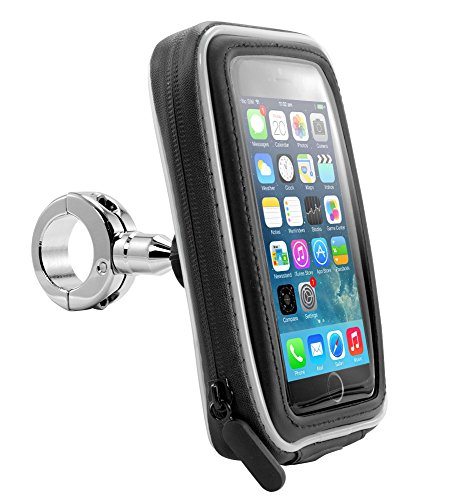 Arkon iPhone or GPS Motorcycle Handlebar Mount with Water Resistant Case Chrome