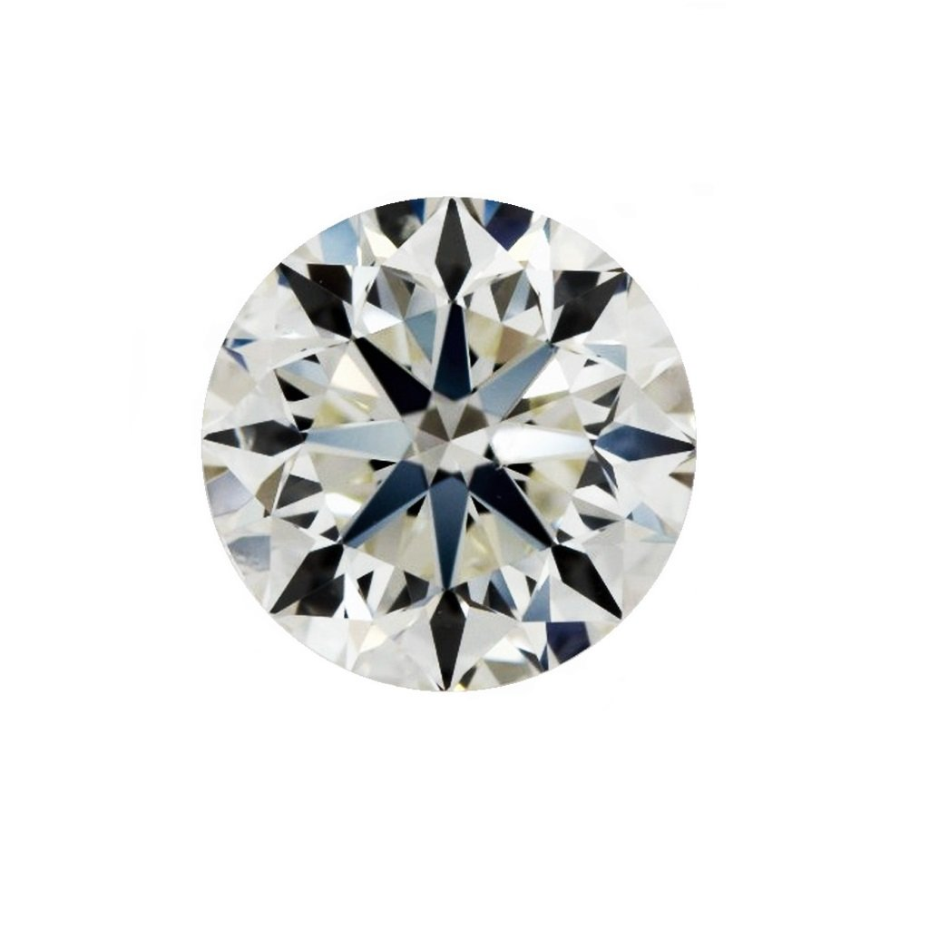GIA Certified Natural 0.90 Carat Round Diamond with J Color & SI1 Clarity