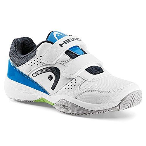HEAD Unisex-Kinder NZZZO Velcro Junior Tennisschuhe Weiß (White/blue)
