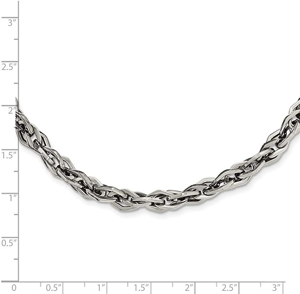 Roy Rose Jewelry Stainless Steel Polished Necklace 24 inches Length