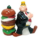Westland Giftware Popeye Magnetic Wimpy and Hamburger Salt and Pepper Shaker Set, 3-3/4-Inch