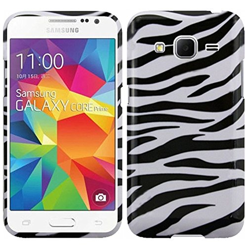 Samsung Galaxy Core Prime/Prevail Case, HRWireless Zebra Rubberized Hard Snap-in Case Cover Compatible With Samsung Galaxy Core Prime/Prevail Boost Mobile, Black/White