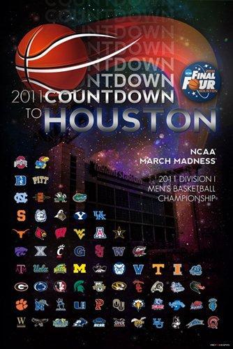 Pro Graphs 2011 NCAA Final Four Countdown to Houston All Team Print Poster (24 x 36)