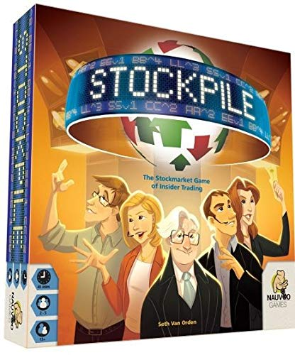 Nauvoo Games LLC Stockpile BOARD Game (Best Stock Market Board Game)