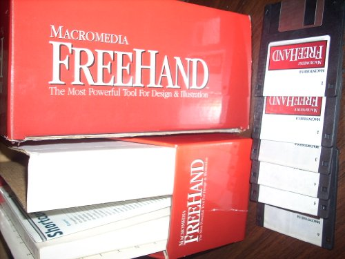 "Macromedia FreeHand 5.0 for Macintosh - MAC - Retail Box with 3.5"" diskettes (6), Manual +"