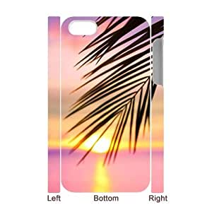 Personalized Palm Trees And Sunset Pink iPhone 4 3D Case, Palm Trees And Sunset Pink Customized 3D Case for iPhone 4, iPhone 4s at Lzzcase