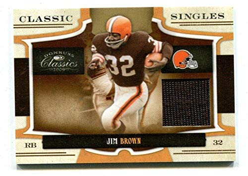 - Jim Brown 2009 Donruss Classic Singles #14 GU Jersey 143/250 Cleveland 48824 - Football Game Used Cards