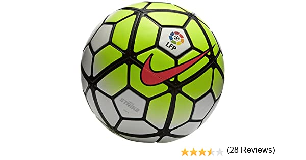 Nike Ball Strike Balón, Unisex, White/Volt/Black/Hyper Punch, 3 ...
