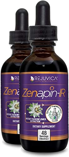 Zenapin IR – All-Natural Liquid Calming Remedy That Works Fast 2X Absorption Kava Kava, Ashwagandha, Passionflower, B-Vitamins More