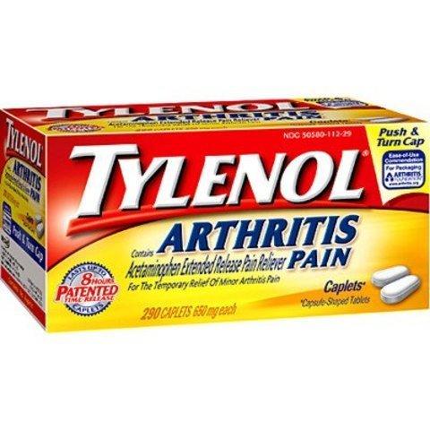 Strength Arthritis Tylenol Extra (Tylenol Arthritis Pain 650 mg 290 Caplets ( Value Pack of 3))