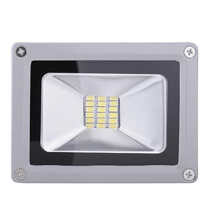 Foco Proyector LED 20W Foco LED para Exteriores Impermeable 1400lm, Blanco Diurno 6000 Kelvin Resistente al Agua IP65 Luz Amplia de Seguridad para ...