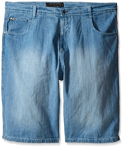 Southpole Men's Big-Tall 4180 Sand Washed Denim Short in Relaxed Fit, Light Blue, 48